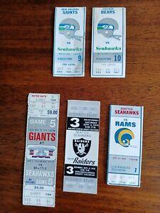 1976 Seattle Seahawks Inaguraul Season Ticket Lot of 5