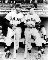 Mickey Mantle Joe Dimaggio Photo 8X10 - 1951 New York Yankees #2 Clipper Rookie