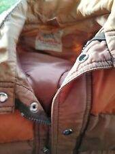 Vintage Aventura Reversible Navy Tan Down Filled Vest Trucker Men's Large