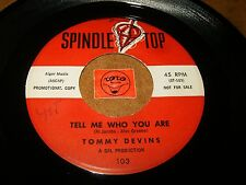 TOMMY DEVINS - TELL ME WHO YOU ARE - COMMUNICATE  / LISTEN - TEEN POPCORN