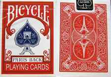 Bicycle Paris Back (red) Playing Cards - Limited Edition - SEALED