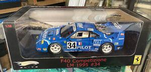 1/18 Ferrari Hot Wheels F40 COMPETIZIONE LM  1995 #34 Mattel Elite Series 1/5000