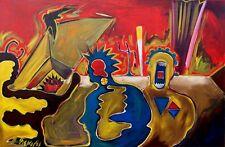 Abstrakte Kunst Hans Thelen  *1956 Zebra , signiert, datiert 91, verzeichnet x