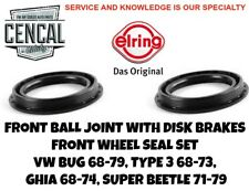 FRONT BALL JOINT WITH DISK BRAKES FRONT WHEEL SEAL SET  1968-1979    321501641