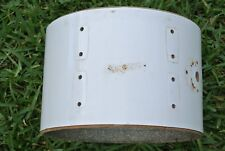 """1970's ROGERS USA 12"""" WHITE TOM SHELL for DRUM SET! LOT #194"""