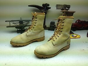 AMBER BLONDE DISTRESSED MADE IN USA TIMBERLAND LACE UP WORK CHORE BOOT SIZE9.5 M