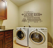 Wall stickers custom colour laundry room to know quote Removable Art Vinyl Decor