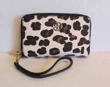 d789964f75cf Tory Burch Robinson Smartphone Wristlet Ocelot Leopard zipper wallet brown  black