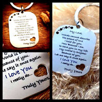 Gifts for mens Him Her Womens I Love You Romantic husband Boyfriend Partner