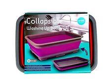 10l Collapsible Folding Washing up Bowl Camping Caravan Picnic Boat Dish Kitchen Red