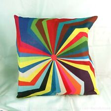 US Seller-geometric vintage retro cotton linen cushion cover geometric vintage