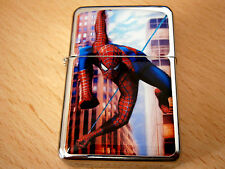 SPIDERMAN STAR CIGAR CIGARETTE LIGHTER SPIDER MAN SUPER HERO& extra zippo flints