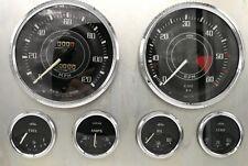Triumph Tr4 Tr4A Jaeger Lucas Complete Set Speedo Tacho Fuel Oil Temp Amps Gauge