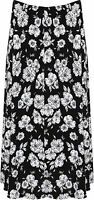 Womens Plus Floral Midi Skirt Ladies Elasticated Waist Print Stretch Long 16-30