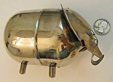 VINTAGE LUNT HAPPY ELEPHANT EAMES ERA PIGGY BANK COIN MODERNIST SILVERPLATE EUC
