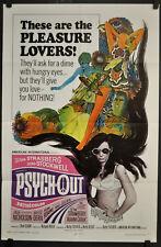PSYCH-OUT 1968 ORIGINAL 27X41 MOVIE POSTER SUSAN STRASBERG JACK NICHOLSON