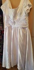 size 24 lace up white  wedding formal gown dress never worn