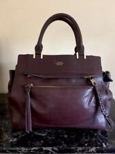 ~ NWOT~  VINCE CAMUTO BLACK CHERRY AYLA SATCHEL LEATHER TOTE HANDBAG
