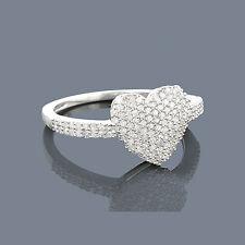 Ring Diamanten Brillanten 0,43 Karat Sterlingsilber Weißgold rhodiniert Neu