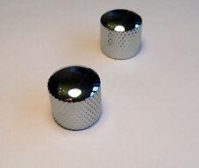 Chrome tone & volume domed knob set for Fender Telecaster Tele guitar knobs