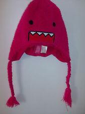Domo Kun Face Japan Peruvian Fuzzy  PINK Adult Pilot Laplander Hat