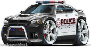 Charger Police Car Hemi 5.7 Wall Graphic Removable Vinyl Decal Home Decor Cling