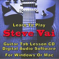 STEVE VAI Guitar Tab Lesson CD Software - 156 Songs