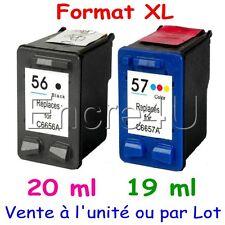 Cartouches compatibles remanufacturées HP 56 XL et HP 57 XL ( Noir / Couleurs )