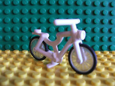 Lego Mini Fig Figure White Bike Bicycle very rare Set Country Ride City Village