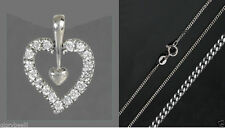Echtschmuck mit Zirkon-Halsketten aus für Damen