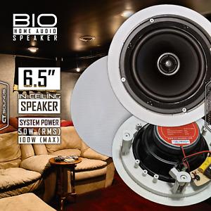 CT Sounds Bio In-Ceiling 6.5 Inch 2 Way Home Audio Weatherproof Speaker (1 Set)