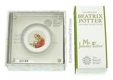 2017 Beatrix Potter Mr Jeremy Fisher 50p Silver Proof Coin Box COA Fifty Pence