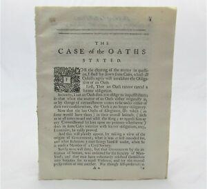 1689 ROBERT WYNNE Oaths of Allegiance