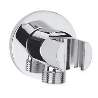 Wandanschlussbogen Wandanschluss für Duschschlauch mit Brausehalterung - MESSING