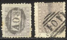 British Guiana #54 Used - 1866 12c Lilac w/ Great Brit Cancels ($55)