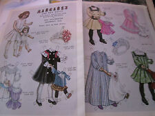 Vtg Pat Stall MARGARET Magazine Paper Doll w/Doll 1902 Style UNCUT