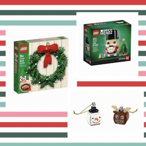 LEGO - 40426 Xmas Wreath 2in1, 40425 Nutcracker, 854050 Snowman & Reindeer Duo