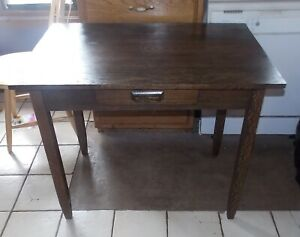 Solid Oak Mission Desk with Drawer  (RP)