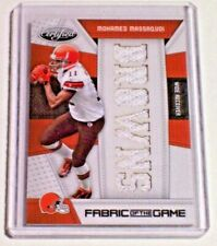 10 Certified Fabric of the Game Team Die Cut Jersey /25 Mohamed Massaquoi Browns