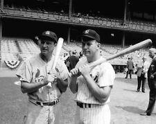 1964 STAN MUSIAL & MICKEY MANTLE @ Yankees Stadium 8x10 Photo Print Poster
