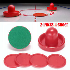 Air Hockey Set Home Table Game Replacement Accessories 2-Pucks 4-Slider Pusher