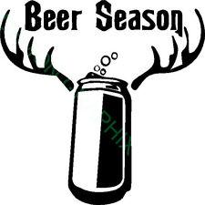 Beer Season vinyl decal/sticker hunting/funny drink cowboy hunter archery deer