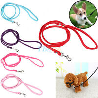 PU Leather Small Pet Puppy Dog Training Collar Traction Leash Lead Strap Rope