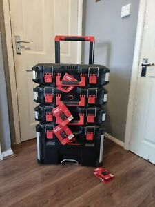 Milwaukee PACKOUT™ Trolley with 3 x  Boxes 4932464080