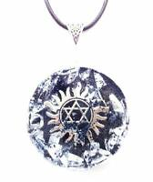 necklet Orgone Orgonite pendant Star of David necklace, stones, crystals, Reiki,