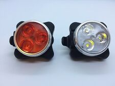 Headlight Taillight Combinations LED Bicycle Light Set; 4 Mode; USB Rechargeable