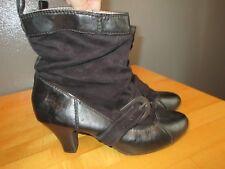 """R2 Black Ankle Boots Heels """"Brinkley"""" Womens sz 8.5"""