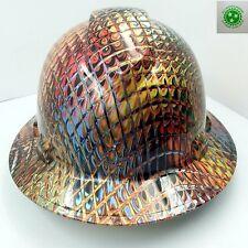 New Custom Pyramexfull Brim Hard Hat Ironman Metallic Swirl 3d Crazy Sick New
