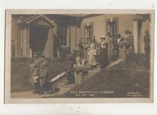 Their Majesties Visit To Bordon Hampshire 1928 RP Postcard RG Waller 645b