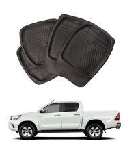 Toyota Hilux Deep Tray Rubber Floor Foot Mats Heavy Duty Mud Mats Set of 4